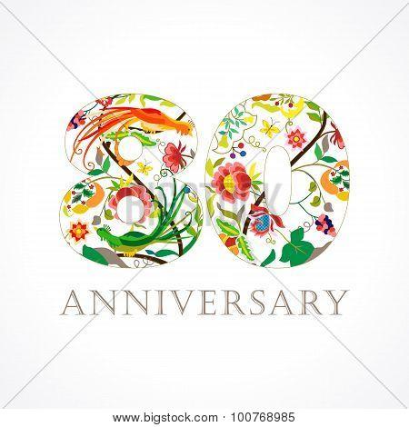 80 anniversary folk logo.