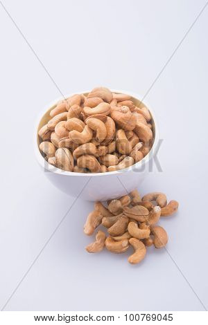 Nuts. Cashew Nuts On The Background