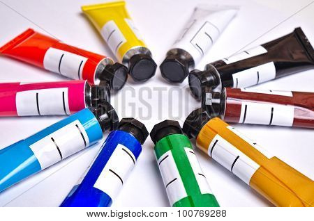 Gouache tubes set