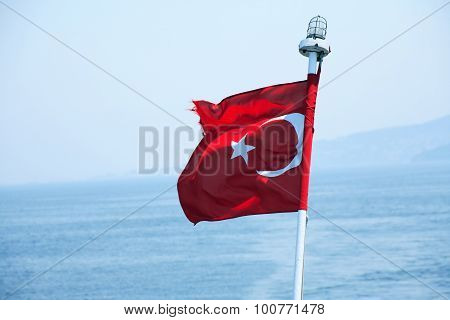 Turkish Flag Waving