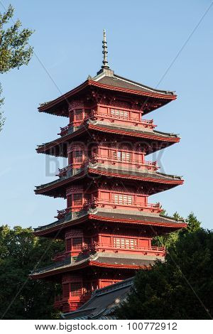 Japanese Tower In Brussels, Belgium