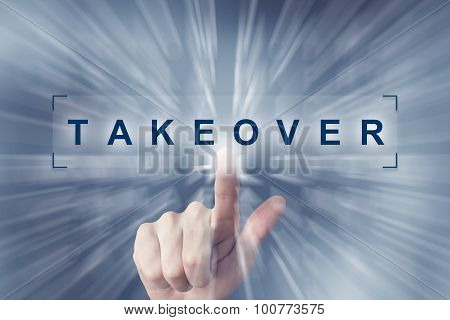 Hand Clicking On Takeover Button