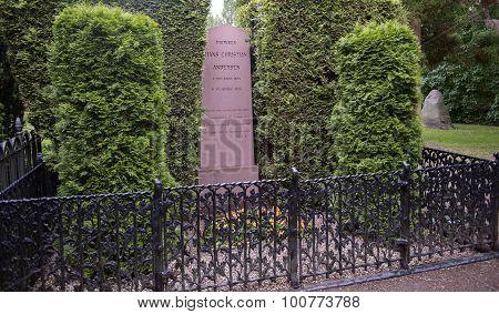 Grave Of Hans Christian Andersen In Copenhagen