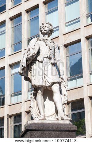Statue Of Anthony Van Dyck In Antwerp, Belgium