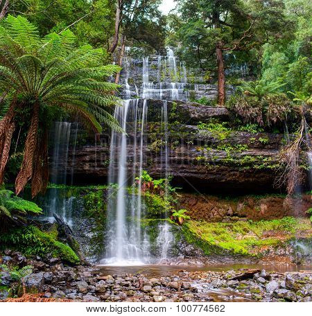 The Russell Falls. Central Highlands region of Tasmania, Australia.