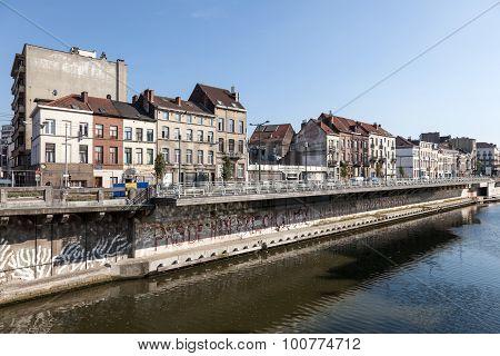 Charleroi Canal In Brussel, Belgium