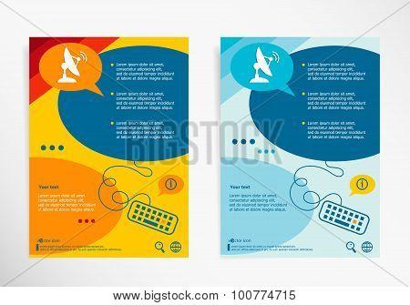 Satellite Icon. Antenna Transmission Symbo On Chat Speech Bubbles.