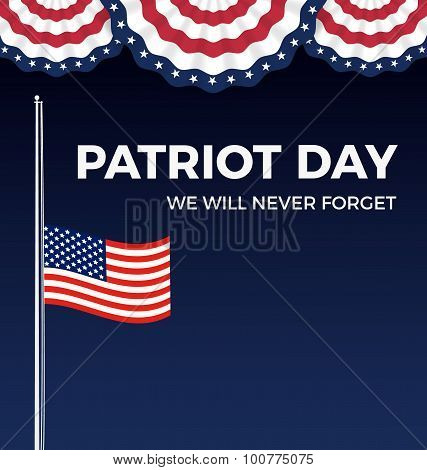 Patriot day, We Will Never Forget web banner