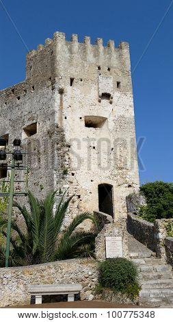 Castle In The Old Village Of Roquebrune-cap-martin