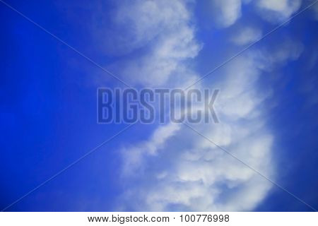 beautiful blue heaven background with clouds