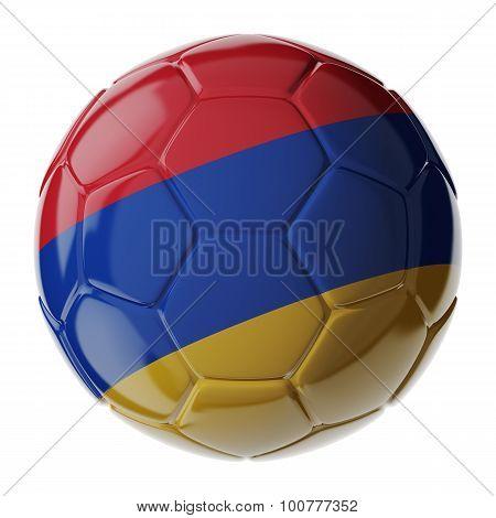 Soccer Ball. Flag Of Armenia
