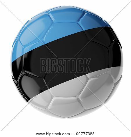 Soccer Ball. Flag Of Estonia