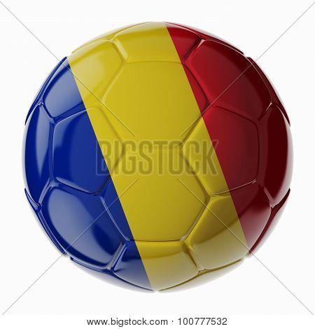 Soccer Ball. Flag Of Romania