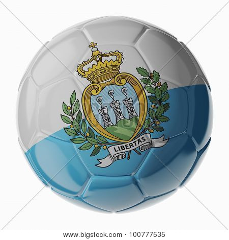 Soccer Ball. Flag Of San Marino