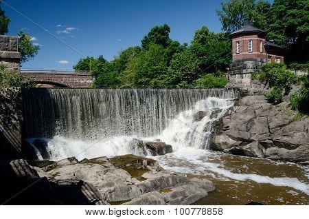 Waterfall In Vanhankaupunginkoski, Helsinki, Finland