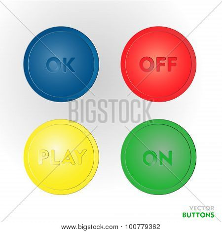 Color vector buttons