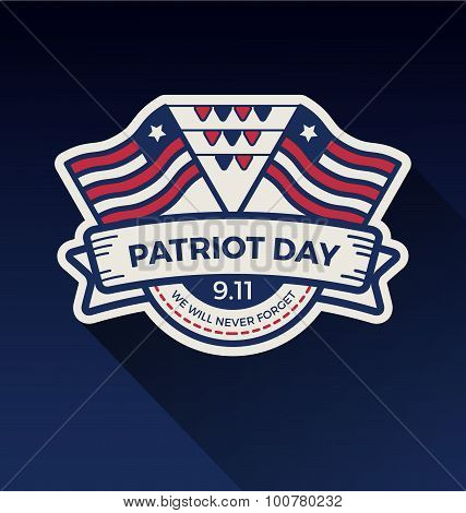 Patriot Day Badge Logo Design