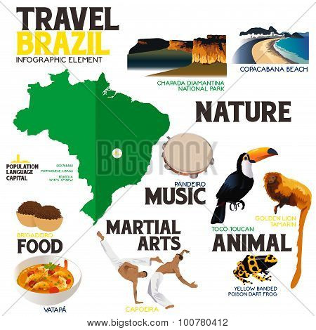 Infographic Elements For Traveling To Brazil