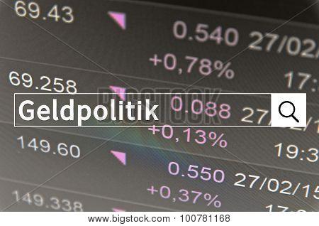 Geldpolitik