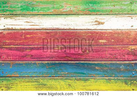 Multicolored Wood Background And Alternative Construction Material - Texture On Wooden Table