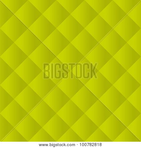 Seamless lime green padded upholstery vector pattern texture