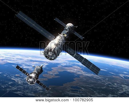 Spacecraft And Space Station