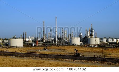Refinery and Oil Wells