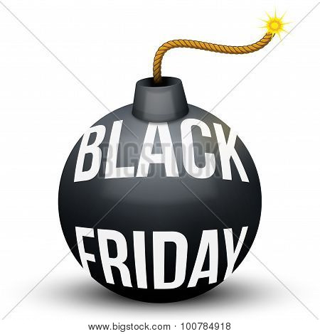 Bomb About To Blast with Black Friday sales tag.