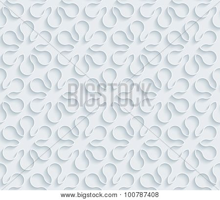 Asterisk. White paper with outline extrude effect. Abstract 3d seamless background.