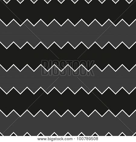 Seamless black and white sawtooth zig-zag pattern background
