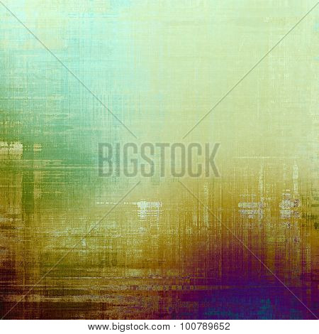 Designed grunge texture or background. With different color patterns: yellow (beige); blue; purple (violet); green
