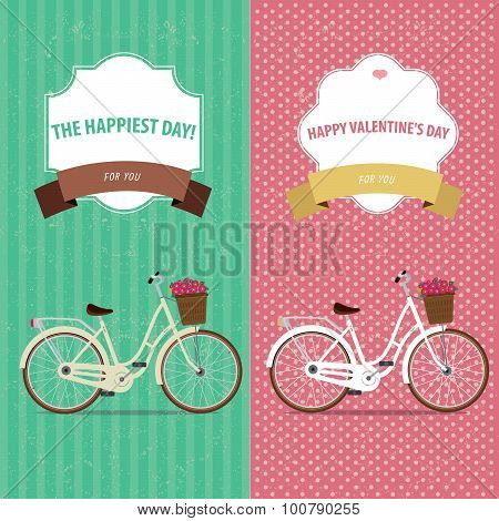 Card bicycle set