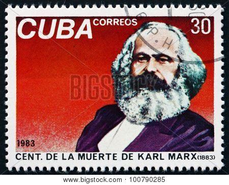 Postage Stamp Cuba 1983 Karl Marx, Philosopher