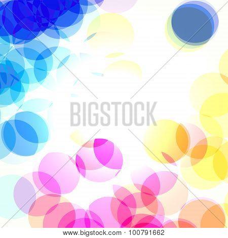 color bokeh transparent