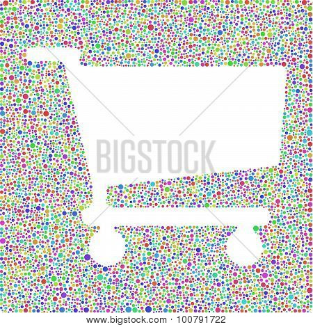 Colored Shopping Cart