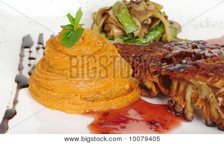 Sweet Potato Puree with Rib