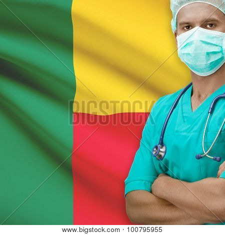 Surgeon With Flag On Background Series - Benin