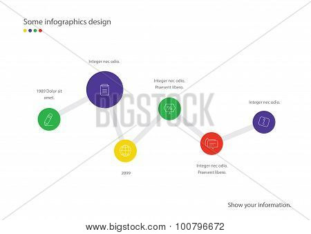 Timeline vector infographic. Minimalistic design template. Useful for presentation, web design or ad