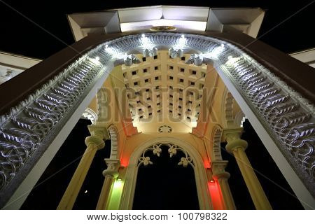 Part of the Illuminated colonnade
