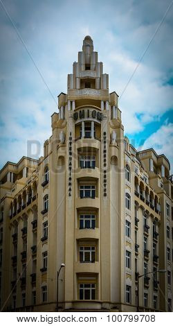 Bucharest, Romania - June 28: Hotel Union Facade On June 28, 2015 In Bucharest, Romania. It Was Buil