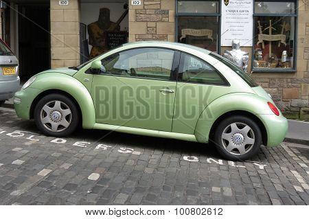 Light Green Volkswagen New Beetle Car