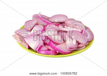 Slised red onion