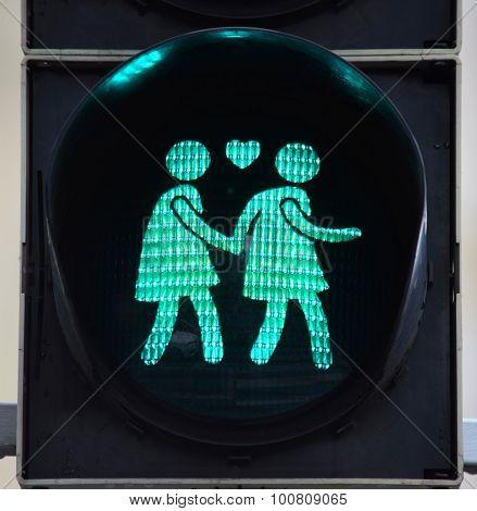 Go Crossing Sign in Vienna Austria