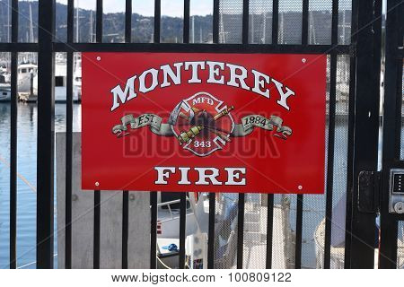 PIER SIDE FIRE DEPARTMENT SIGN