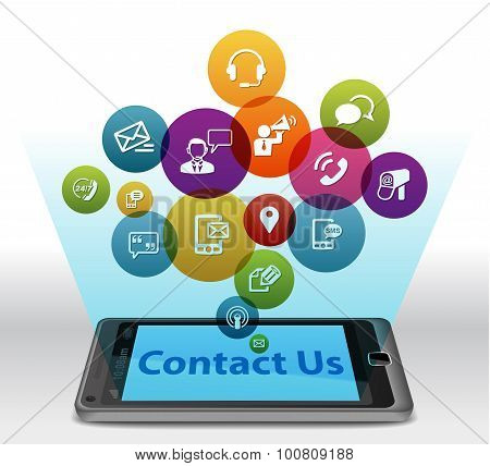 Contact Us on Smartphone