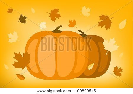 Thanksgiving day illustration card
