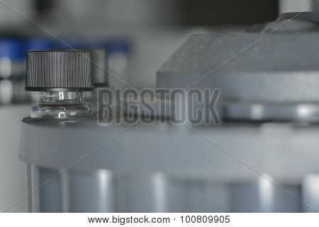 Sample Vial Are Waiting For Analysis