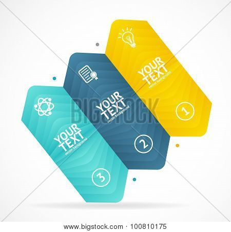 Option banner infographic concept. Vector
