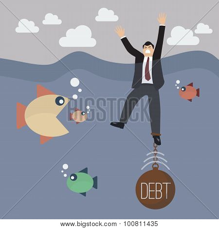 Businessman Get Drowned Because Debt Weight