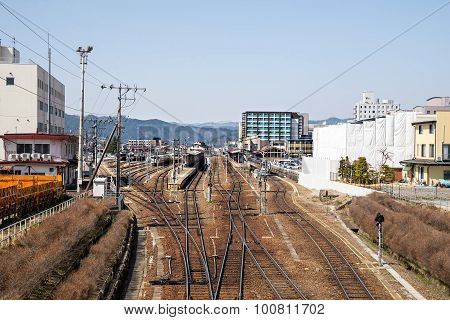 Country Side Train Or Railway In Japan